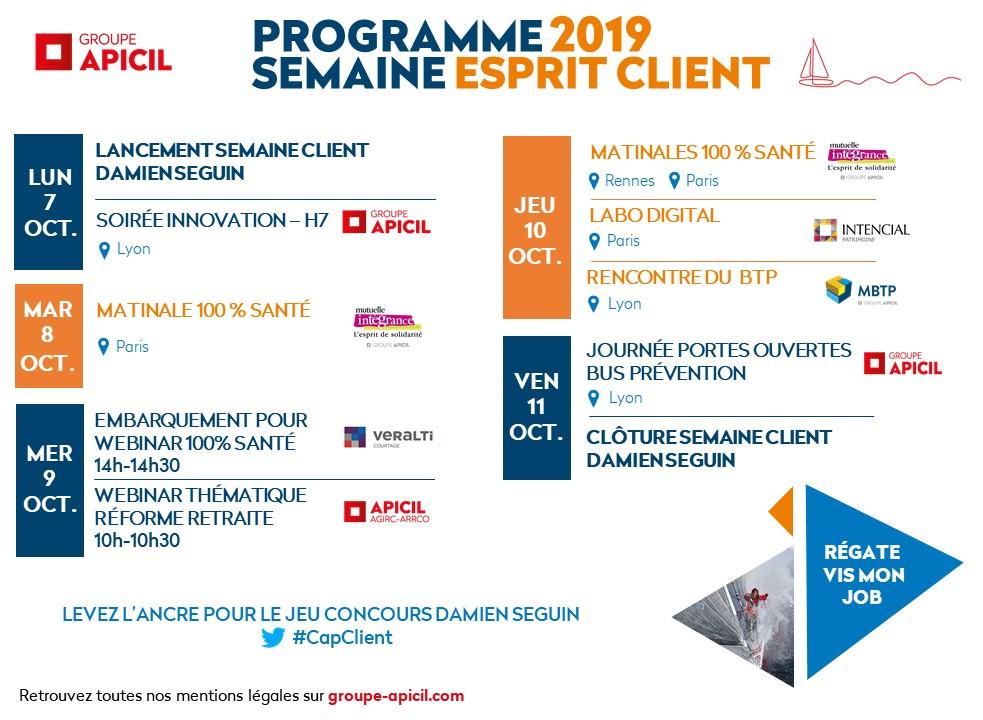Programme Semaine Esprit client 2019